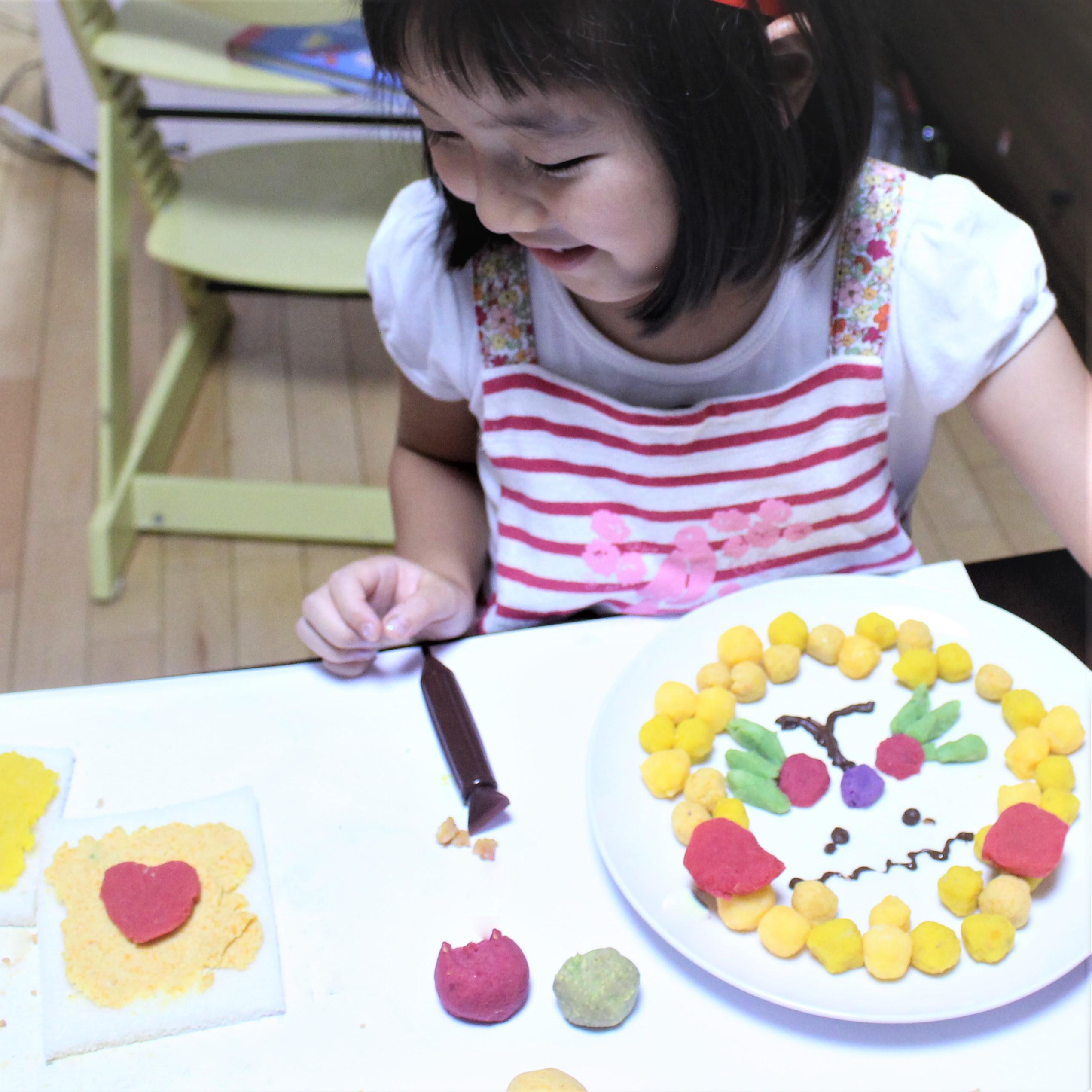 カラフル野菜ペーストでお皿アートに挑戦!