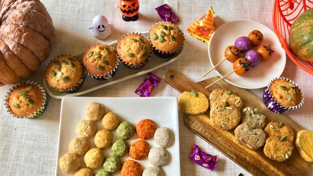 野菜パウダーでハロウィンパーティーのお菓子をつくろう!